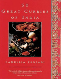 Front cover of 50 Great Curries of India by Camellia Panjabi