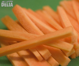 Julienne carrots (cut into small batons)