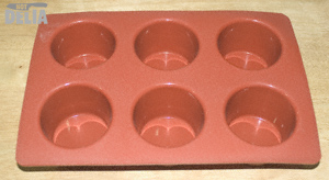 A silicone Yorkshire pudding tray