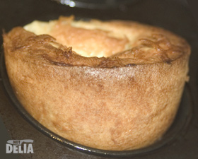A Yorkshire pudding used making a traditional tin