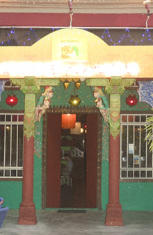 Entrance of the Passage Thru' India restaurant in Georgetown, Penang, Malaysia