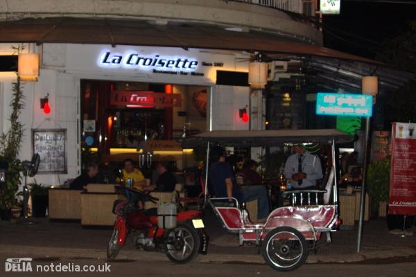 Exterior shot of La Croisette, 241 Sisowath Quay, Phnom Penh