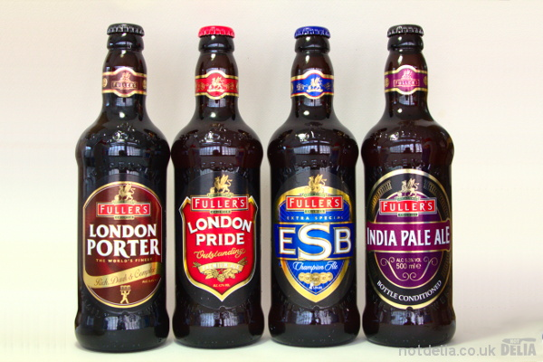 Four ales from Fuller's Brewery