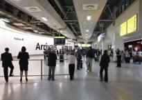 Arrivals concourse at London Heathrow Terminal 5