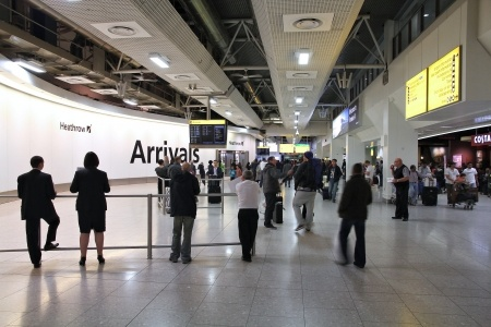 Arrivals concourse at London Heathrow Terminal 5