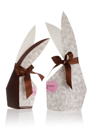 Artisan du Chocolat's Crème de la Crème eggs come in a bunny's head package