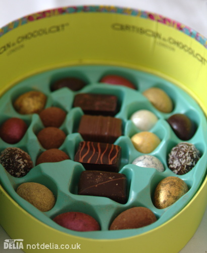 A chocolate assortment from Artisan du Chocolat
